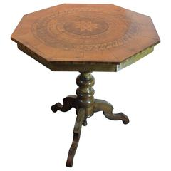19th Century Parquetry Tripod Based Center Table