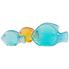 Three Colored Fish in Lucite by Abraham Palatnik, Brazil