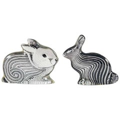 Rabbit and Hare, Made of Lucite by Abraham Palatnik