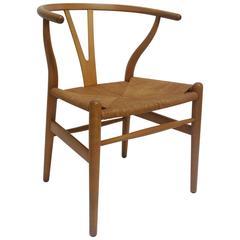 Mid-Century Modern Wishbone Chair Designed by Hans Wegner for Carl Hansen & Son