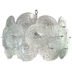Fabulous 1960s Austrian Kalmar Art Glass Chandelier