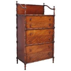 Edwardian Tall Chest of Drawers Finely crafted in Mahogany, circa 1900