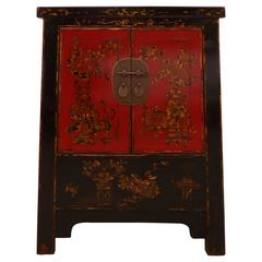 Fine Lacquer Chest with Gold Gilt Motif