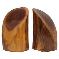 Pair of Don Shoemaker Style Wood Bookends