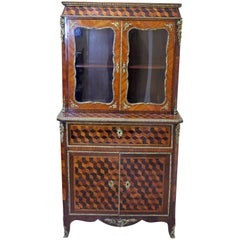 Louis XV-Style Cabinet with Secretary