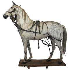 19th Century American Lifesize Wood and Zinc Harness Horse