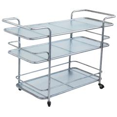 Brown Jordan Aluminum and Glass Bar Cart