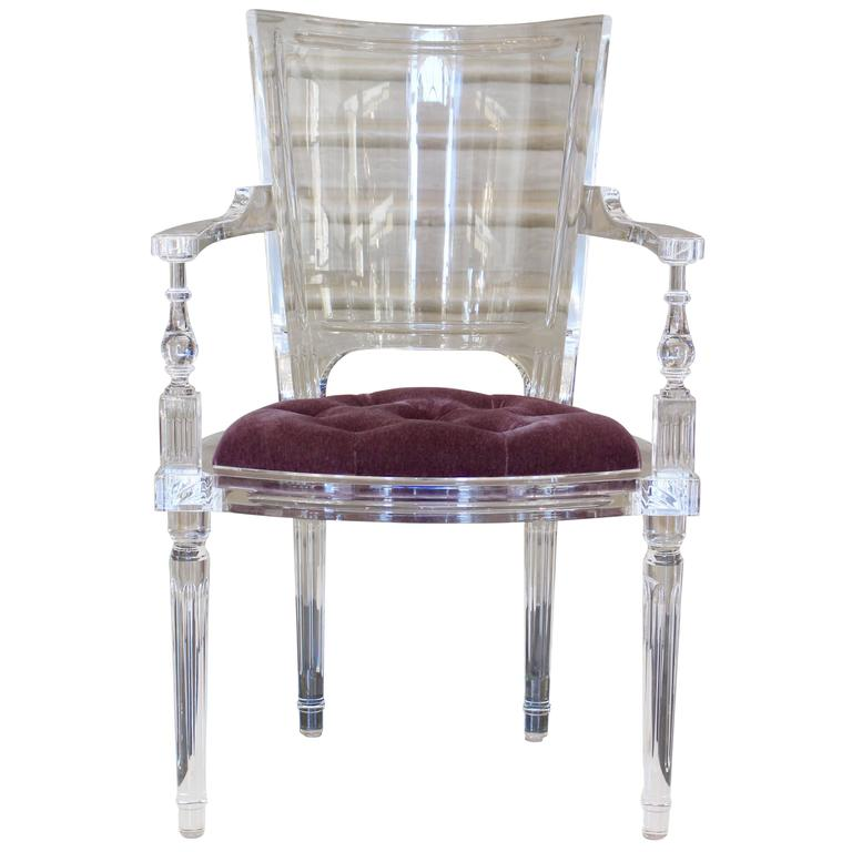 Contemporary Marilyn Acrylic Armchair