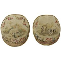 Pair of 18th Century Aubusson Tapestry Decorative Pillows