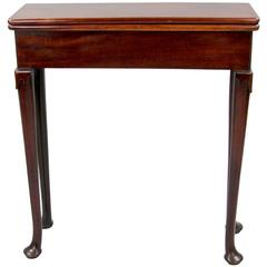 George II Mahogany Fold over Table of Unusually Narrow Proportions