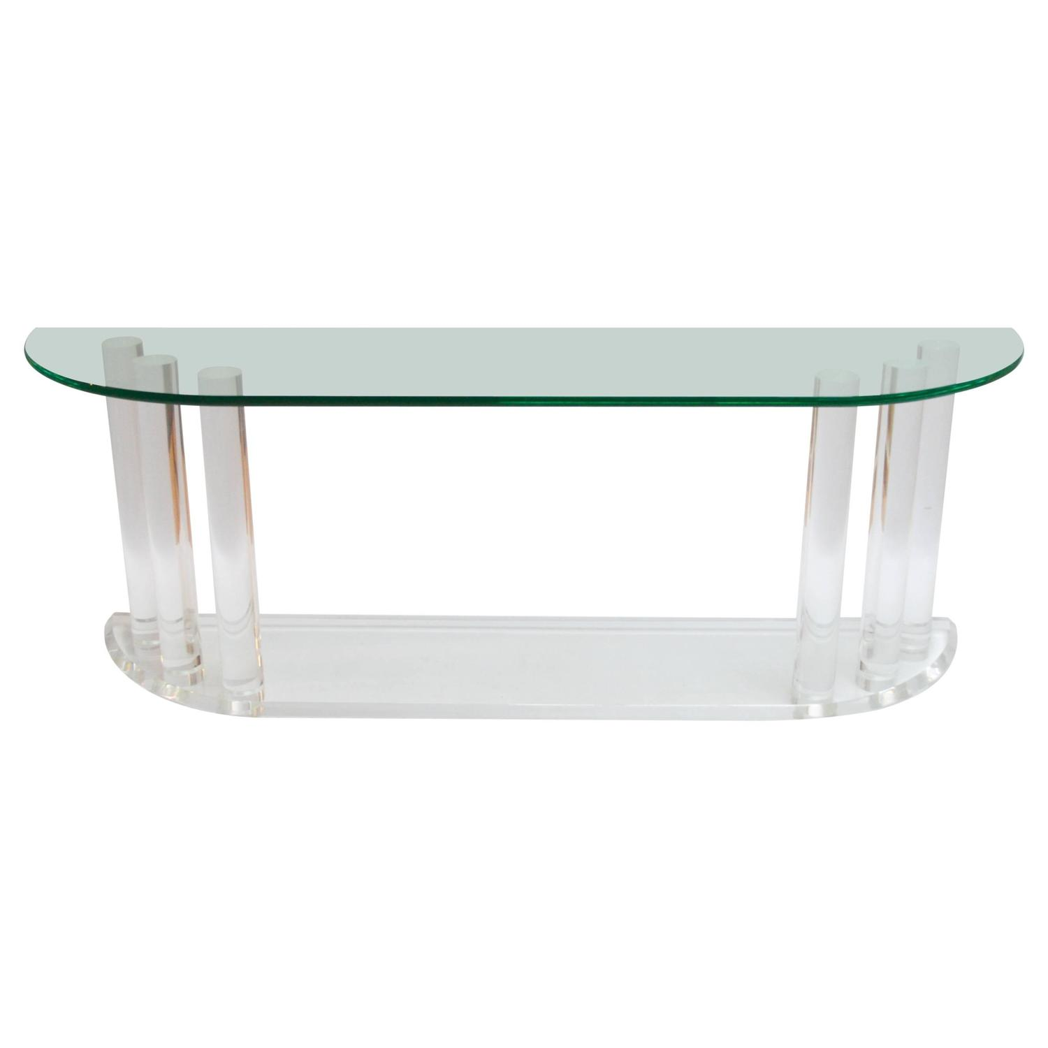 Lucite Console Table Waterfall At