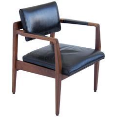 Jens Risom Leather Armchair