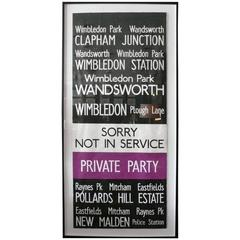 Vintage London Bus Sign