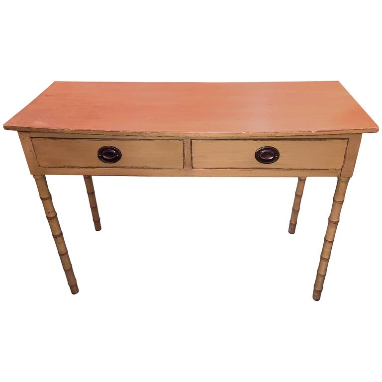 English 19th Century Painted Bamboo Style Table