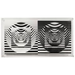 Leo Maranz, Double Image, Op Art Floating Silkscreen