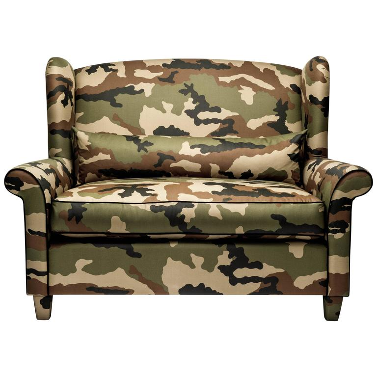 Alexander Camouflage Military Loveseat By Gianni G