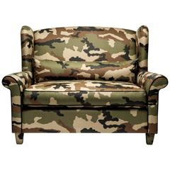 Alexander Camouflage Loveseat by Gianni G. Pellini for Spazio Pontaccio