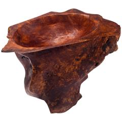 Large Burl Wood Catchall Sculpture Centerpiece 1960s