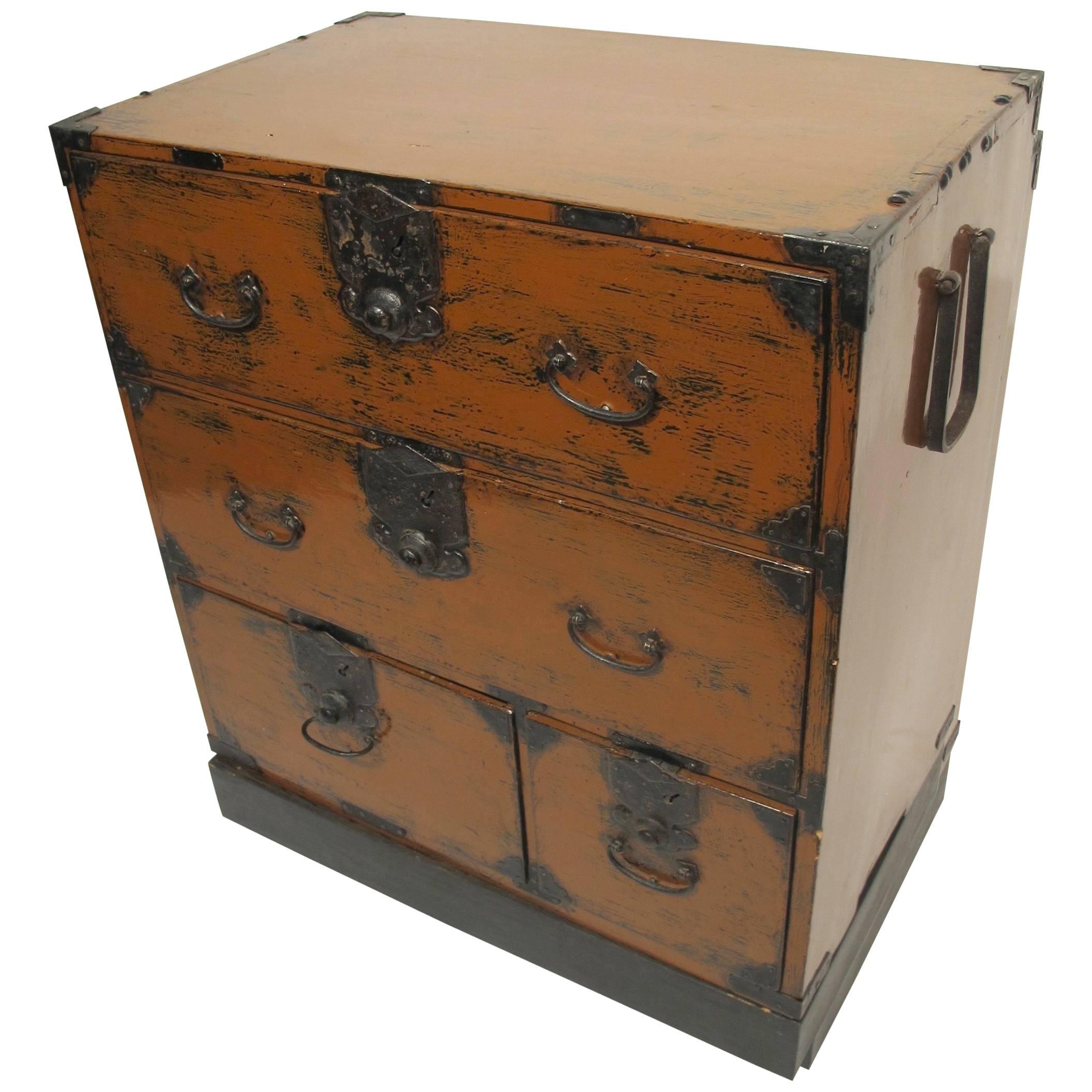 Japanese Tansu on Stand