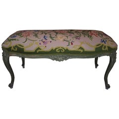 French Style Aubusson Needlepoint Bench