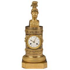 Empire Gilt Bronze Clock Mantel, circa 1800