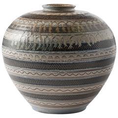 Glazed Ceramic Vase by Arthur Andersson for Wallåkra