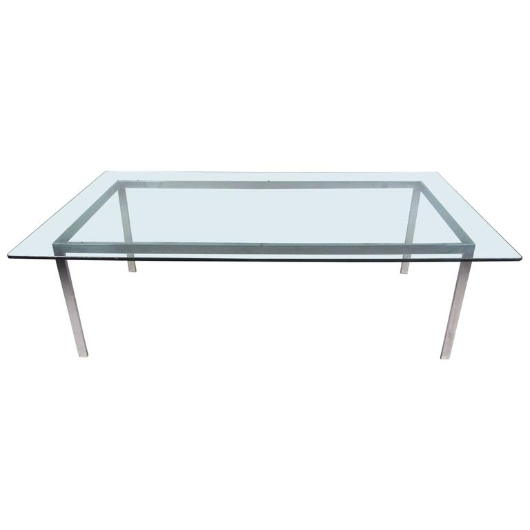 large midcentury chrome and glass dining room conference large dining room table for sale 3 1 x 1 1m suiderberg