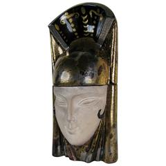 Egyptian Art Deco Head Candy Box by ROBJ