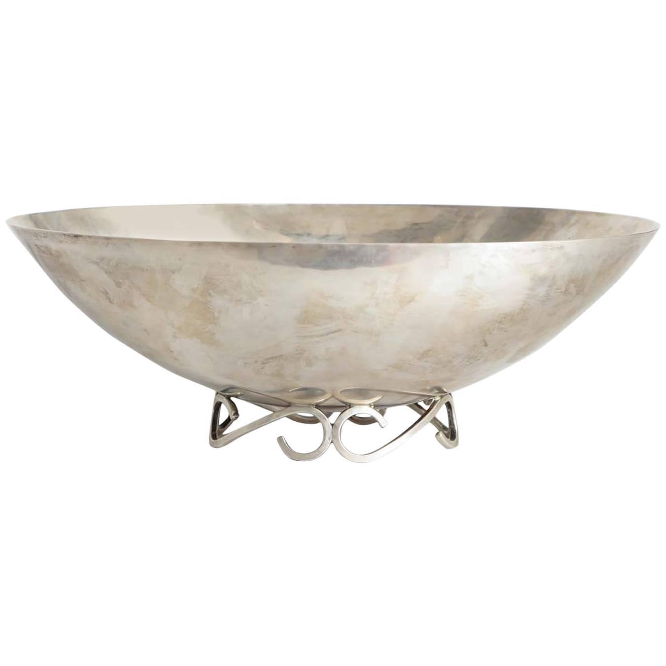 Sterling Silver Modernist Bowl by Sciarotta