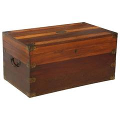 19th Century Portuguese Specimen Wood Travelling Chest