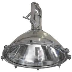 Industrial Extra Large Aluminum Ship Search Light, England, 1930s