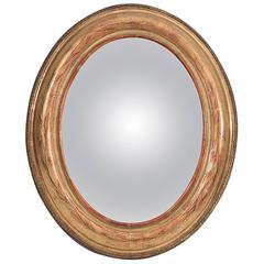 Gilded Round Sorciere Mirror 19th Century