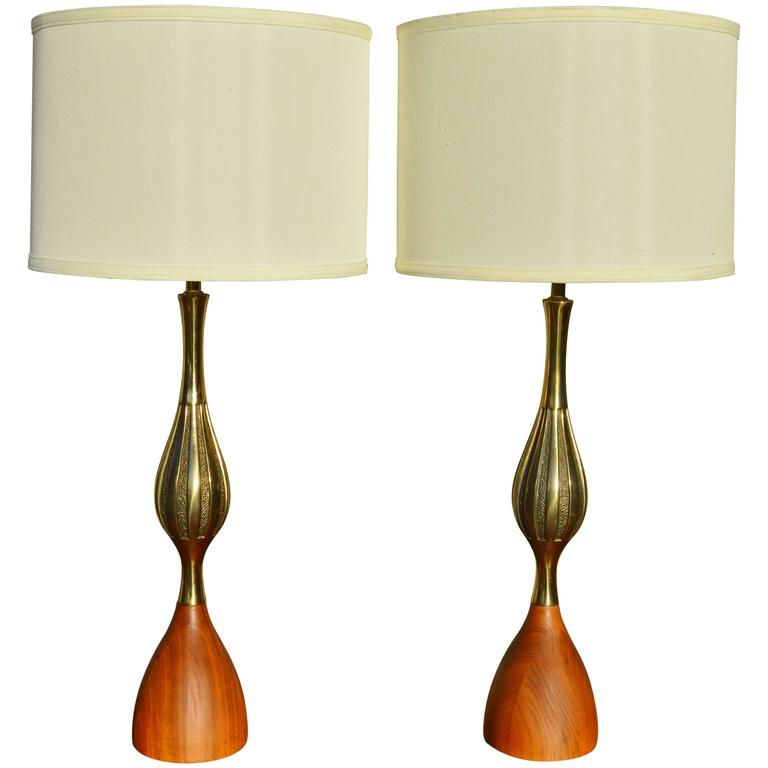Westwood Lighting: Rare Pair Of MCM Tony Paul For Westwood Lamps At 1stdibs