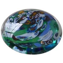 Seguso Viro Murano Art Glass Paperweight