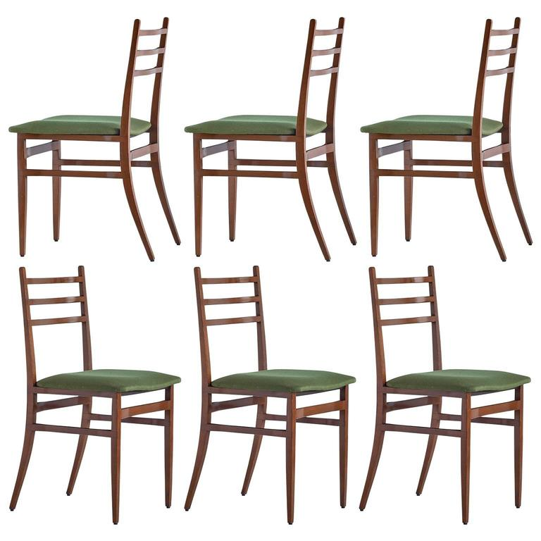 Set of Six Guglielmo Ulrich Trieste Dining Chairs, 1961