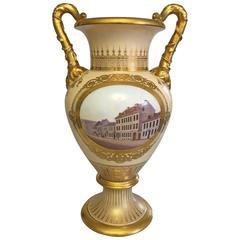 19th Century Bing & Grondahl Ornamental Two-Handled Vase