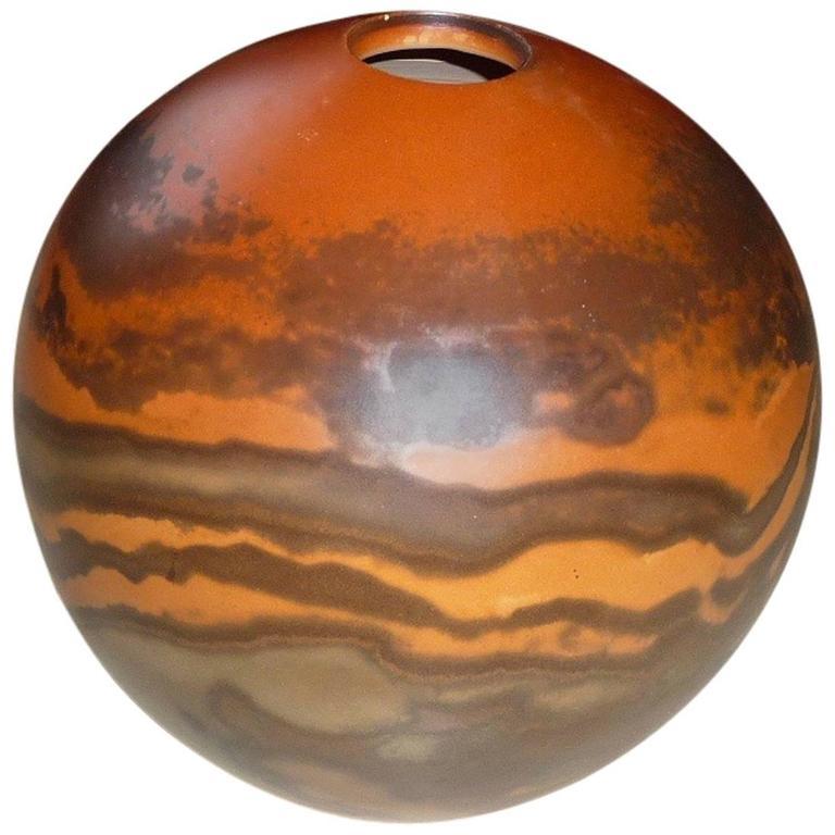 Ceramic Vase by Jean Grison, Samian Earth 1