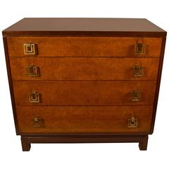 Renzo Rutili For John Stuart Four Drawer Bachelors Chest