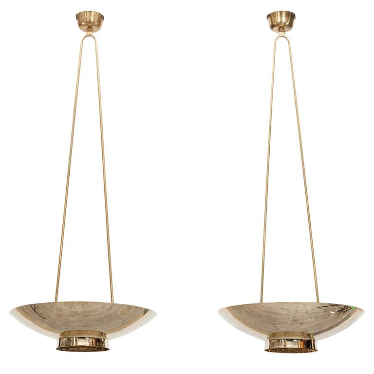 Pair of Paavo Tynell Pendant Lamps