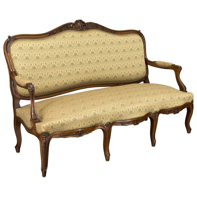 19th century louis xv style sofa or canape for sale at 1stdibs. Black Bedroom Furniture Sets. Home Design Ideas
