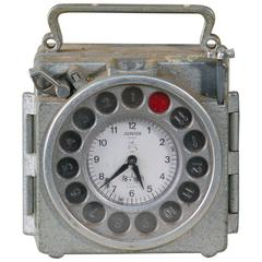 Vintage Belgian Pigeon Racing Clock