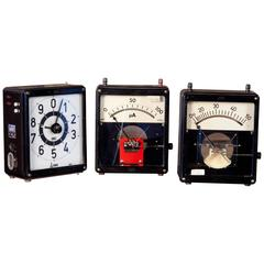 Collection of Vintage German Metal Timers and Voltimters