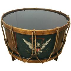 United States Military Drum Cocktail Table