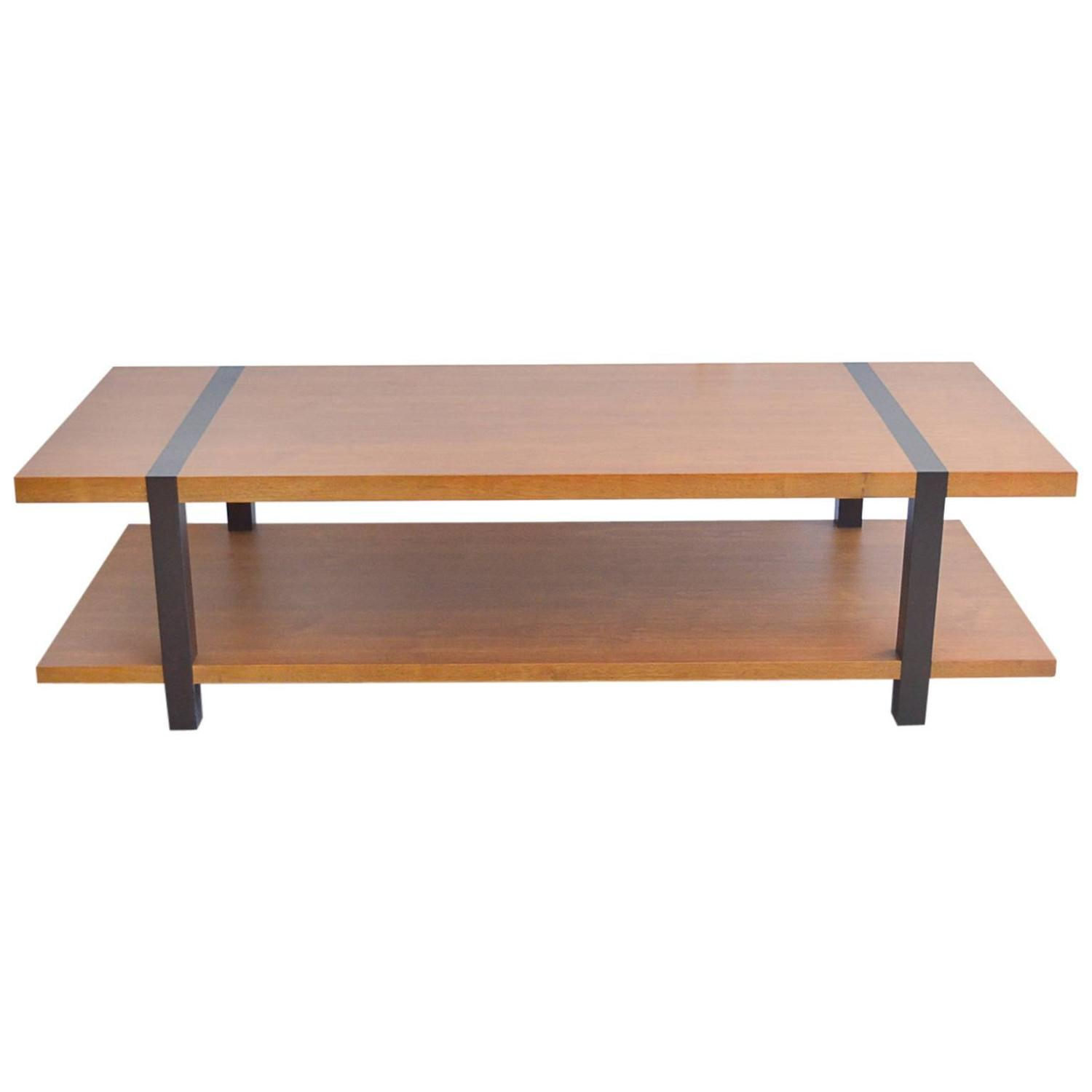 Mahogany With Ebonized Detail Coffee Table At 1stdibs