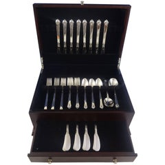 Castle Rose by Royal Crest Sterling Silver Grille Flatware Set 8 Service 48 Pcs