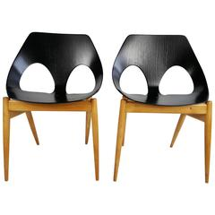 "Modernist Pair of Plywood Chairs, Carl Jacob C2 ""Jason"" for Kandya"