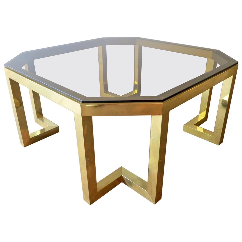 Italian Brass Coffee Table By Romeo Rega At 1stdibs