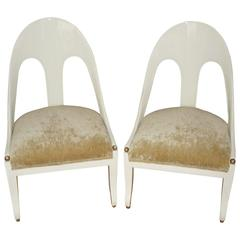Pair of Spoon Back Chairs by Michael Taylor for Baker