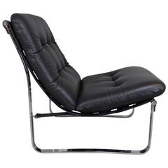 Westnofa Bracket Back Leather Lounge Chair