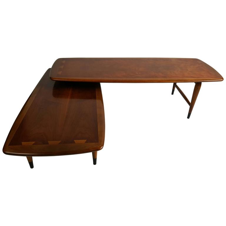 Used Lane Coffee Table: Classic Modernist Lane 'Acclaim' Switchblade Cocktail